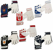 New Official Football Club Team Goalkeeper Gloves Kids Youth Boys Soccer Player