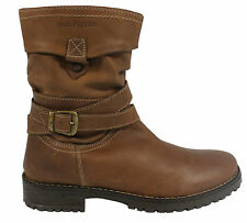 Hush Puppies Girls Luceilie Slouch Boots Brown Leather (HKB8050 203 U14)