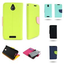 For HTC Desire 510 Case Flip Cover Wallet Pouch Accessory Phone + LCD Protector