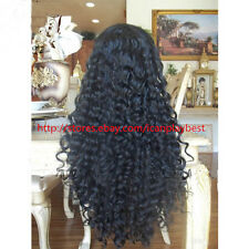 SOFT Malasyian WAVEY 100% Indian Human Remy Hair Lace Front WIG BABY HAIR