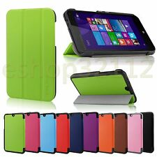 Tri-Fold Ultra Slim Shell Leather Stand Case Fit Cover For HP Stream 7 Tablet