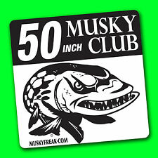 MUSKY CLUB DECAL for Big fish Sticker DECALS Tackle Box, Car, Boat, 50-40-30-24""