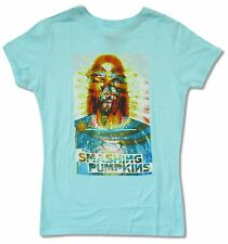SMASHING PUMPKINS SMASHED JUNIORS GIRLS LIGHT BLUE T SHIRT NEW OFFICIAL