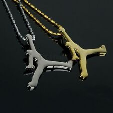 Hip-Hop 18K Gold/Silver Plated Vintage Jordan Pendant Necklaces Good Quality