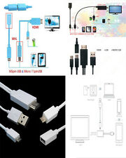 MHL Micro USB To HDMI Cable HDTV Adapter 4 LG Optimus Huawei Ascend P1 P2 P6 D1