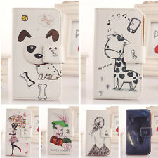 1X Cute Design PU Leather Case Cover Protection Skin For ZTE Blade G V880G