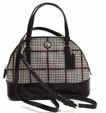 $228 NWT Coach F33319 Peyton Glen Plaid MINI Domed Satchel Cross body Authentic