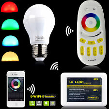 Milight 2.4G Wireless RGBW W/WW E27 9W LED Light Dimmable Bulb Lamp+wifi Remote