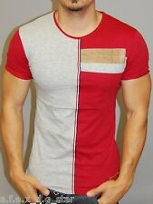 A.F.E.X D.G N&T STAR CASUAL 2 TONE MUSCLE SLIM FIT BODY FITTED T SHIRT TOP B28
