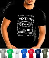 VINTAGE 1965 AGED TO PERFECTION T-shirt 50th BIRTHDAY Present Gift 50 years old