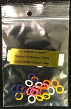 30 Tiny Stitch Markers 5mm OD 3mm ID for size 0-4 Needles - Silicone Rings