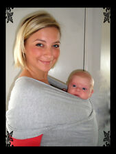 BABY SLING WRAP with SAFETY TESTED RINGS  -  BIRTH -3 yrs - BREASTFEEDING
