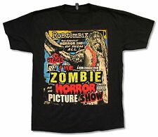 """ROB ZOMBIE """"PICTURE SHOW"""" BLACK T-SHIRT NEW WHITE OFFICIAL BAND MUSIC ADULT"""