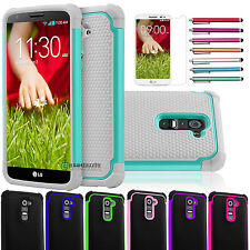 Heavy Duty Shockproof Impact Rugged Classic Protect Case Cover for LG Optimus G2