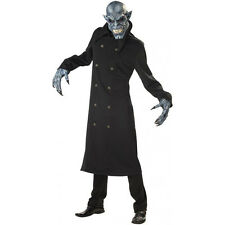 Night Fiend Adult Costume Demon Vampire with Ani Motion Mask and Gloves fnt
