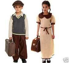 Evacuee Costume Boys Girls WW2 1940s World Book Day Fancy Dress Costume 4-12 yrs