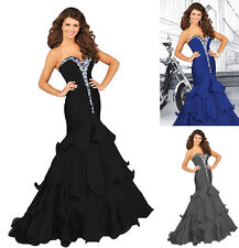 New women formal evening party prom mermaid dresses ball gowns custom made