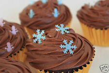 edible christmas snowflakes, pre-cut cake decorations any 4th set free