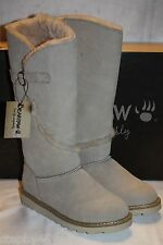 NEW! NIB! BEARPAW Camel Suede Leather Sheepskin LORNA Tall Snow Boots 9 10