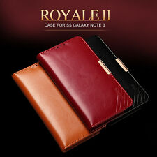 C2 KLD Royale Genuine Leather Flip Slim Stand Leather Cover Case for Phones New