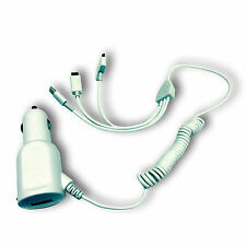 3 IN 1 30 PIN APPLE, MICRO USB AND LITNING CAR CHARGER FOR LG GOOGLE NEXUS 4