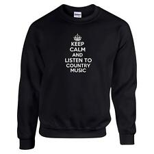 Keep Calm And Listen To Country Music Unisex Sweatshirt Funny Western Roots Folk