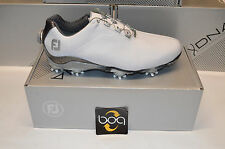 NIB Footjoy DNA Dryjoys Next Advancement BOA Golf Shoes White/Grey # 53469