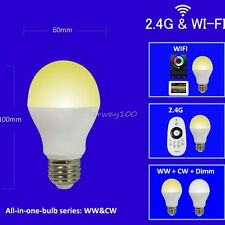 6W E27 WW CW White Bulb Light Wifi Controller 2.4G RF 4-Zone Remote Mi-Light