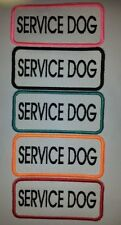 "U Pick One ""Fun Colors"" Sew-On Embroidered Patch - SERVICE DOG"