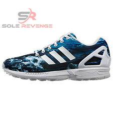 f1589a06faa9 New 14 adidas Originals ZX Flux Shoes OCEAN WAVE Shoes Blue M19846 Photo  Pack