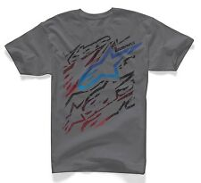 MENS ALPINESTARS CLASSIC -VETO- CHARCOAL GREY SHORT SLEEVE T SHIRT