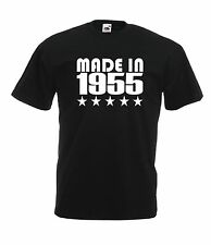 MADE IN 1955 60th xmas birthday party present gift top ideas mens womens T SHIRT