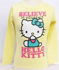 Girls Hello Kitty Yellow Believe In Yourself Long Sleeve T-Shirt AMM-78414
