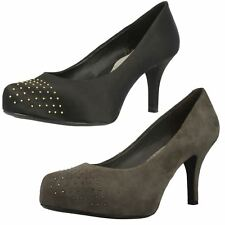 Ladies Clarks Evening Court Shoes With Stud Detail -  Drum Time