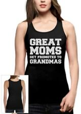 Great Moms Get Promoted To Grandmas Women Tank Top Gift For Mother's Day Ladies