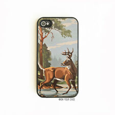 iPhone 4S Case Vintage Paint by Number Deer iPhone 6 Case. iPhone 5S. iPhone 5C.
