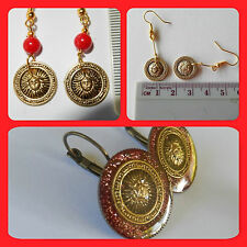 Gold Coast Aust Rules fans, Red & Gold, sun football, supporter earring