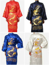2015  Noblest Chinese Traditional Man Embroidered dragon Pajamas Robe Sleepwear