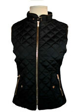 NEW JUNIOR Women's Quilted Zip-Front Padded Vest Black  SIze S,M,L