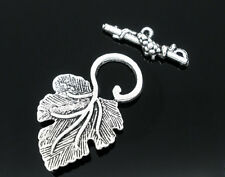 Wholesale New Silver Tone HOTSELL Grape Charm Toggle Clasps Findings