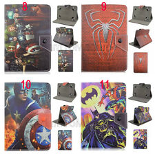 "For 7"" Tablet Phablet Fold Flip Kids Super Hero Cartoon Leather Stand Case Cover"