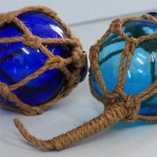 Blue Nautical Glass Ball Rope Beach Seaside Bathroom Fishing Kitchen Birthday