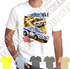 Mk1 Ford Escort Rs2000 Mexico Rally Scene mens T shirt