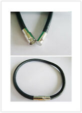 Wholesale 4mm Black Real Leather Braclets W Magnetic Clasps #2