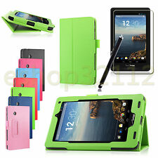 "Folio PU Leather Stand Case For Verizon Ellipsis 7 4G LTE 7"" Tablet+ Pen+ Film"
