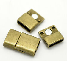 Wholesale Lots Bronze Tone Rectangle Magnetic Clasps 25x14mm for Bracelet