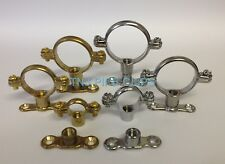Brass Munsen Ring & Various Backplates - Brass or Chrome Plated - Pipe Clip