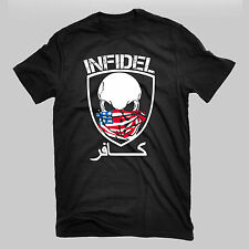 Infidel Skull Military USMC Army Marines Navy Seal Sniper Soldier T Shirt