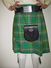 Irish Heritage Tartan Kilt Men's Various Sizes NEW WITH DEFECTS