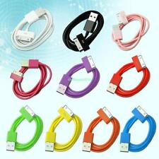 Sync Data USB charge charging cable cord For iPhone 4 4S 3G 3GS iPod iPad 3 2 1